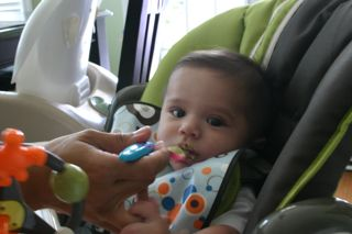 High Chair Time – Evan's 5 MonthsOld