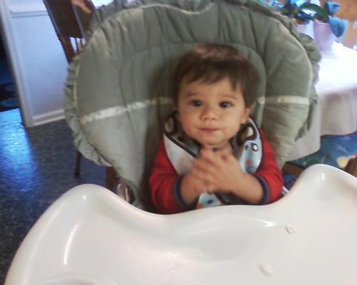Evan at Grandmas!