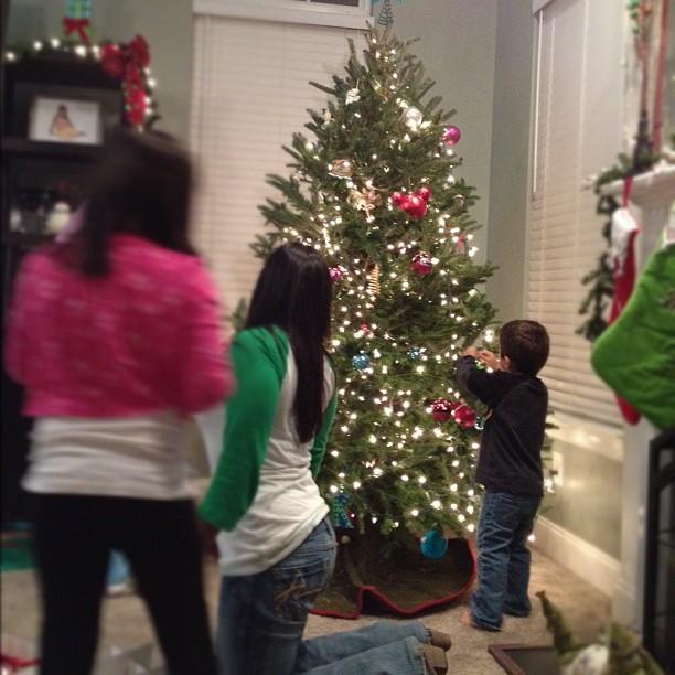 Evan Hanging Ornaments #picoftheday