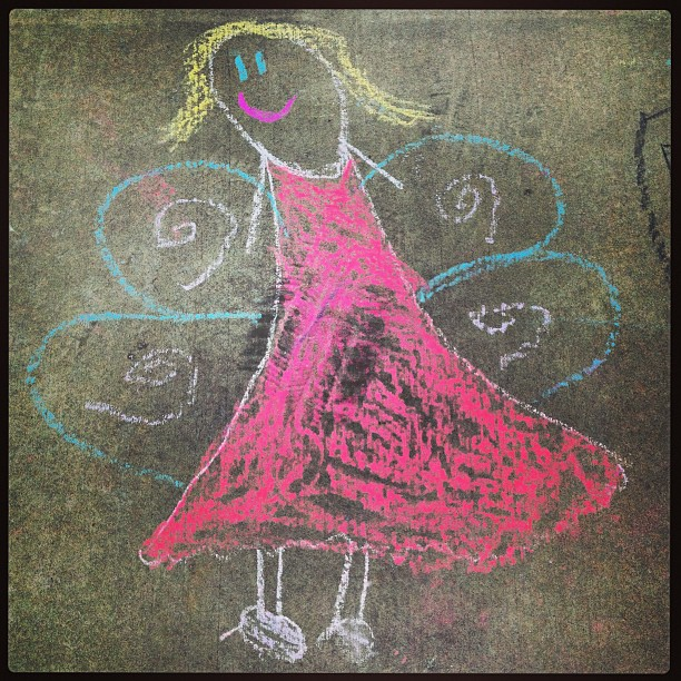Gabby's Fairy #sidewalkchalk