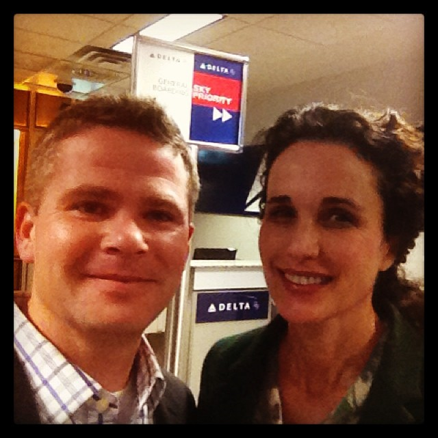 Just found out an awesome actor from a couple favorite movies is on my flight home.  #andiemcdowell #graciouslady #toocool #meetthemckinneys