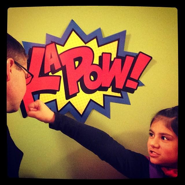#superhero attack! Happy birthday Pierce!