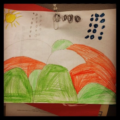 Grabby' Artwork posted at work. #proudpapa