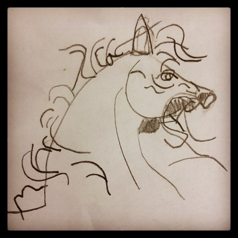 Gabby's Horse love my artist! #gabbymckinney