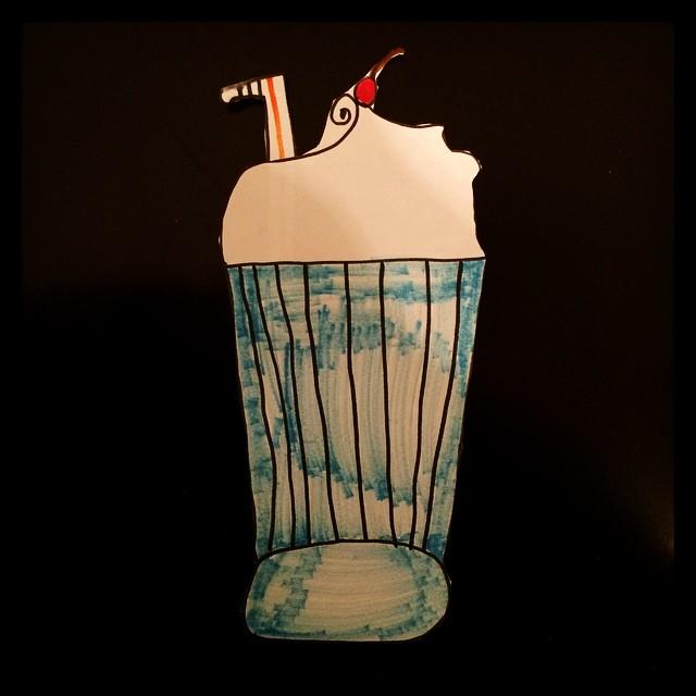 Gabby made me a milkshake... Just to be nice. #lovemykids #meetthemckinneys #littleartist