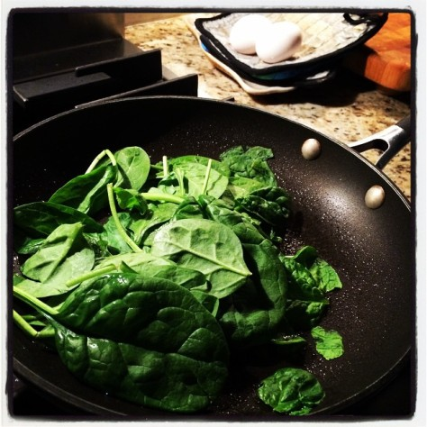 Spinach. It's what's for breakfast.