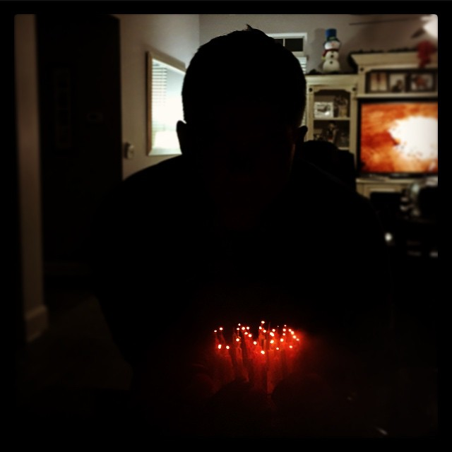 #40 little dots Thanks for all the Birthday wishes! It's been a wonderful day. A special thanks to my wife and family.