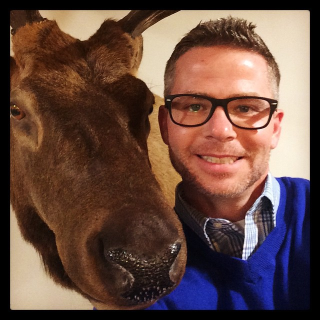 Me and #bullwinkle happy #newyearseve (yes @tbbennett I know bullwinkle is not an elk)