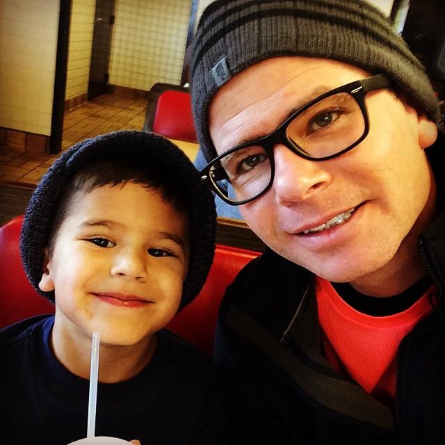 #biblebreakfast with the kiddos Evan