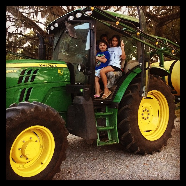 Tractor driving with their uncle #MCSB15