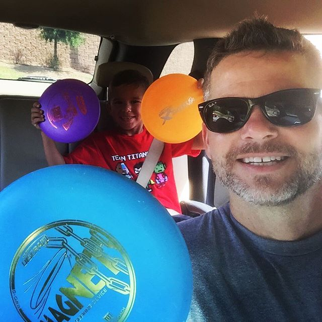 The McKinney boys have been playing disc golf #pdga here we come! @f3isotope